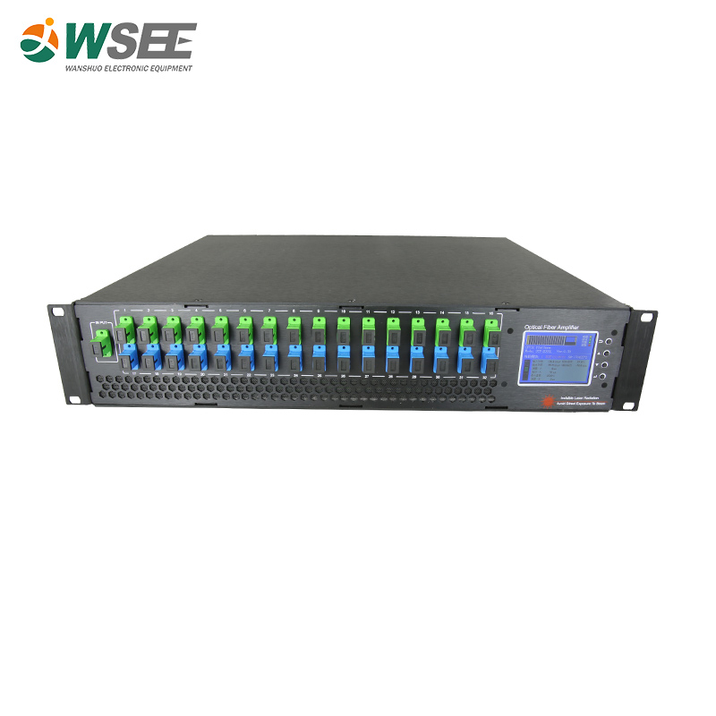 Top Selling Triple Play OLT PON <strong>Network</strong> 1550nm 23dBm Optical Amplifier 16 Port EDFA