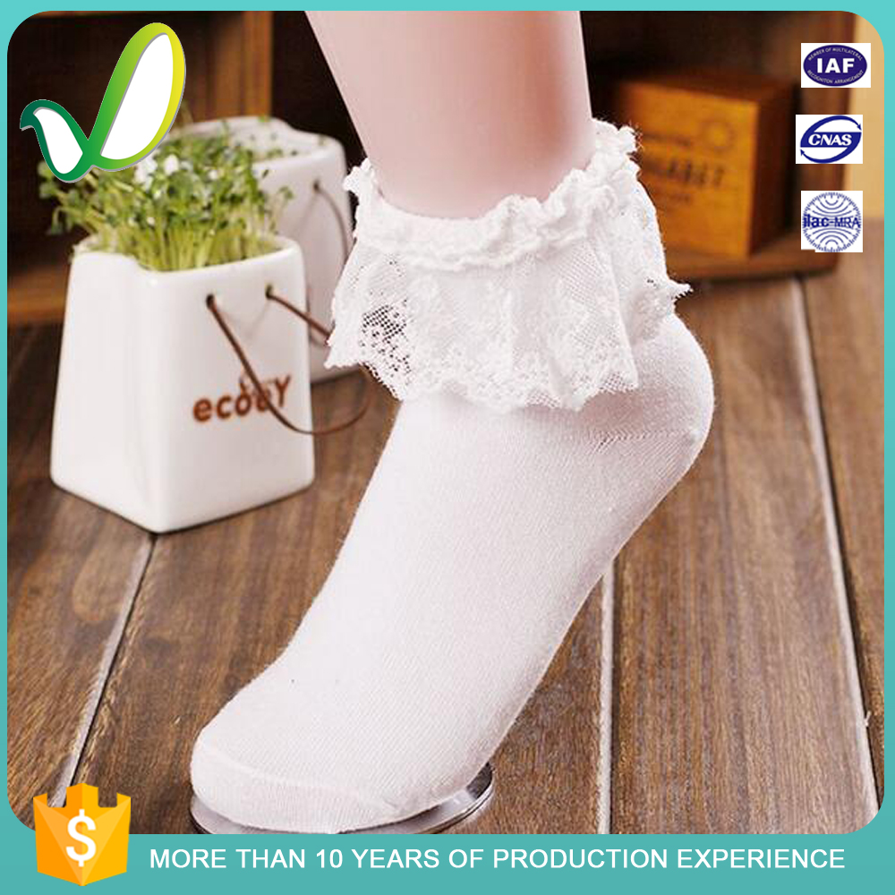 Hot Selling New Style Girls Lace China Custom Sock Manufacturer Branded Socks Knitting Yarn