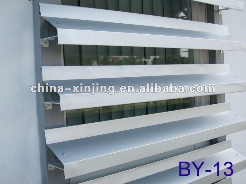 extruded aluminum louver blade profile