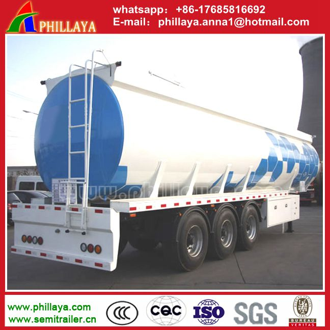 tri-Axles 36000 litres Fuel Tanker Semi Trailer/High Quality Fuel Truck Semi Trailer Used Oil Tankers For Sale