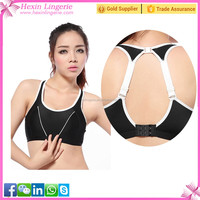 Black Special Design Back Anti Droop Women Uderwear Yoga Bra