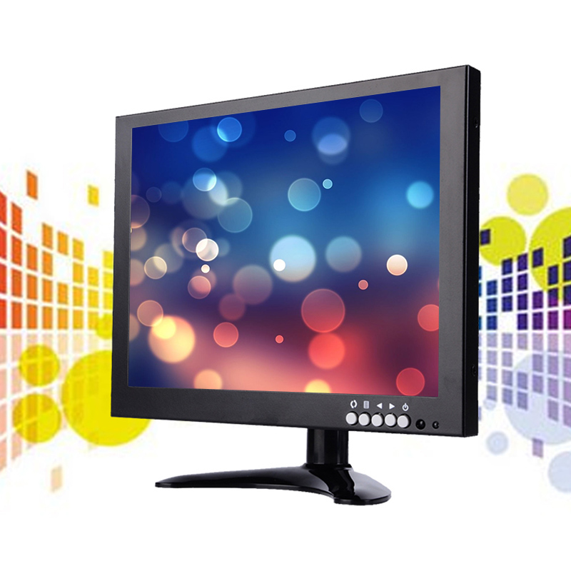 Curved line design 10.1 inch small size lcd monitor with bnc input