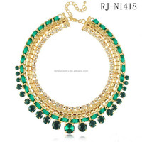 Delicate Rhinestone Colorful Woven Necklace Cebu Jewelry Buyers