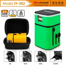 Hot selling light logo world universal ac dc travel power adapter Galaxy 5V 3200mA usb charger mobile phone accessories with led