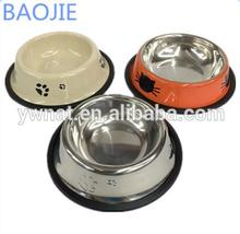 Novely custom stainless steel cattle pet bowl dog water bowl for small animal