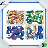 Good idear snack food promotional 3D dinosaur puzzle