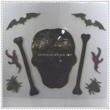Halloween Decoration Non-toxic Skull Tpr Magic Window Gel Sticker