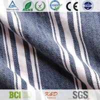 woven blue and white twill stripe fabrics for women dresses from china suppiler factory