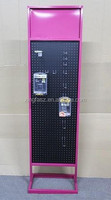 Metal pegboard display stand with hooks sport accessory metal display rack