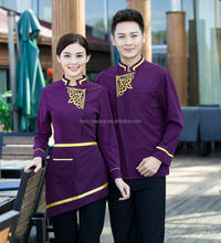 Fashion customized sexy modern hotel restaurant uniforms