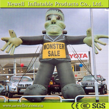 New type inflatable cartoon giant green monster for outdoor decoration