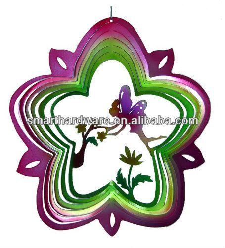Decorative Fairy metal wind spinner