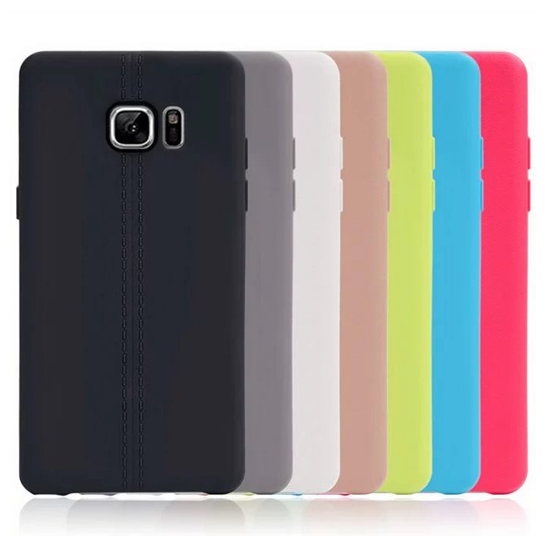 Double Leather Line TPU protective phone case for Samsung galaxy note 7