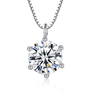 Alloy copper pendant cubic zirconia necklace wholesale fashion jewelry
