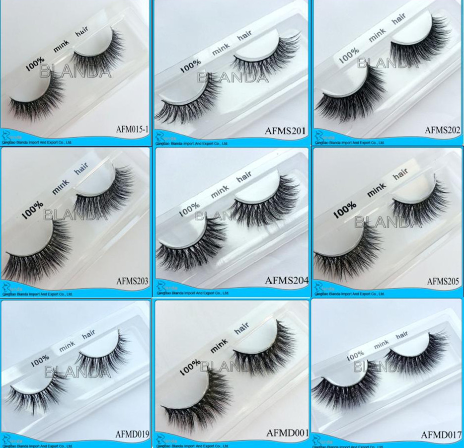Premium 3d Mink Fur Lashes Real Mink Eyelashes Siberian Mink Lashes