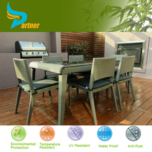2015 Quickest Delivery Time Outdoor Brushed Aluminum UV Plastic 6 People Ultra Modern Dining Room Table And Chair
