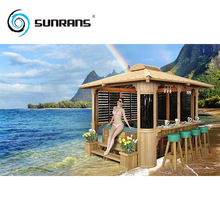 Sunrans waterproof outdoor spa Gazebo wooden Canopy
