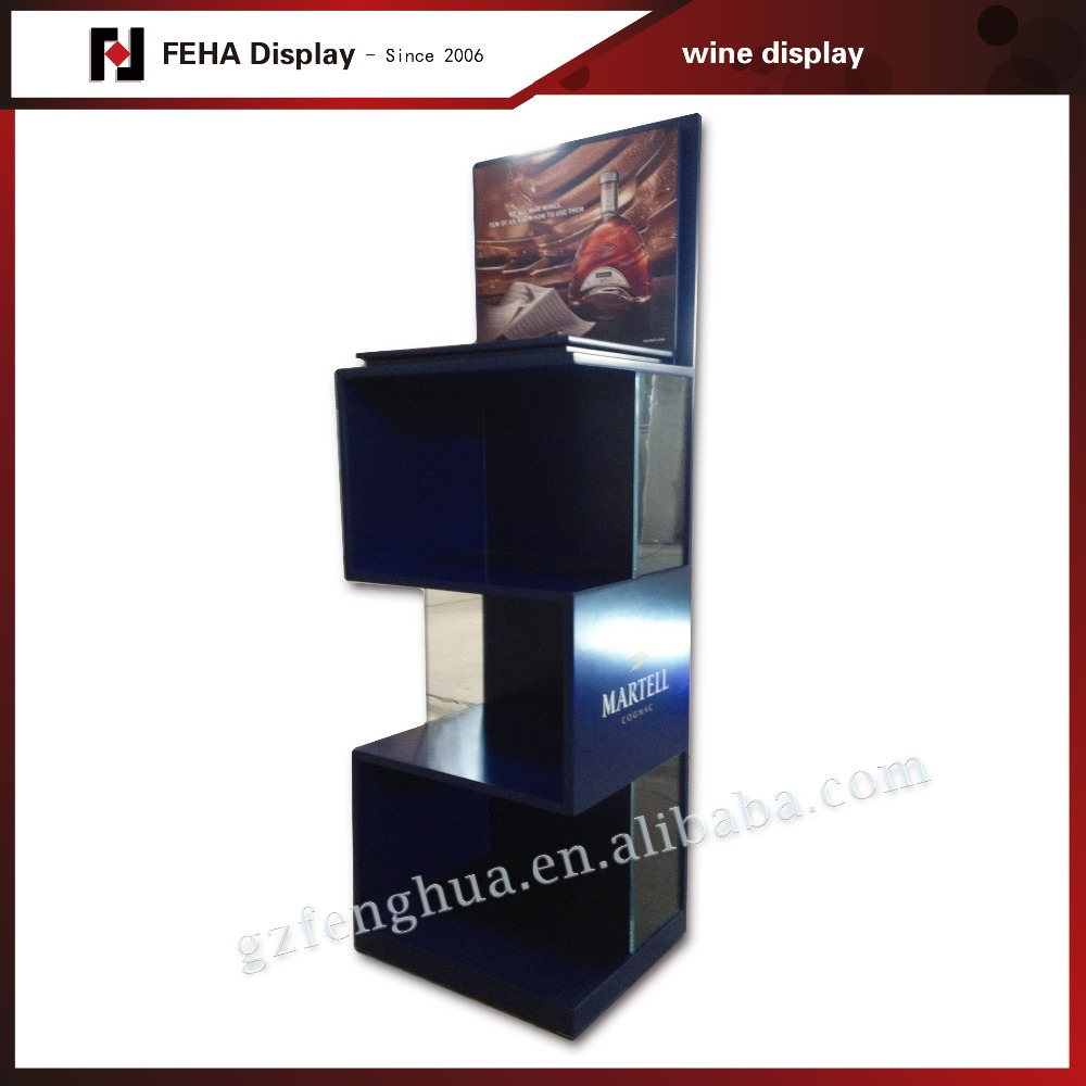cheap price MDFand Acrylic wine display stand/display showcase for sale