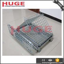 China factory direct sale foldable wire storage cage/steel crate with shipping container panels