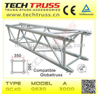 multipurpose square 400mm truss , stage truss system for sale