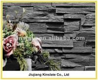 Natural Black Rough Slate Cultured Stone Veneer Lowes