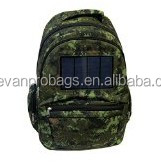 outdoor camouflage laptop bags solar powered backpack for army