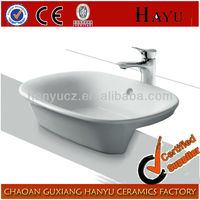 HY5091 bathroom countertops with built in sink ceramic rectangular vanity sink
