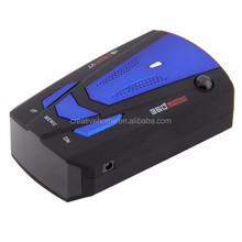 Car Anti-Police Radar Detector 360 Protection Defense Laser Detection, Support Russian & English(Dark Blue)