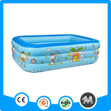Wholesale 3 Rings Rectangle Shape PVC Pool Inflatable/Swimming Pool