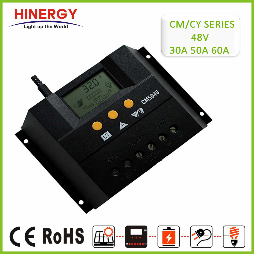 China 30A 50A 60A 48V LCD Digital Display Adjustable Setting PWM Low Price Solar Charge Controller