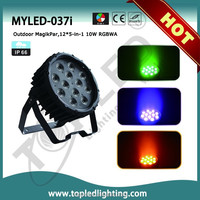 Professional sound-active12*5-in-1 RGBWA disco,band,club,stage outdoor dj equipment dj laser lights for sale led par
