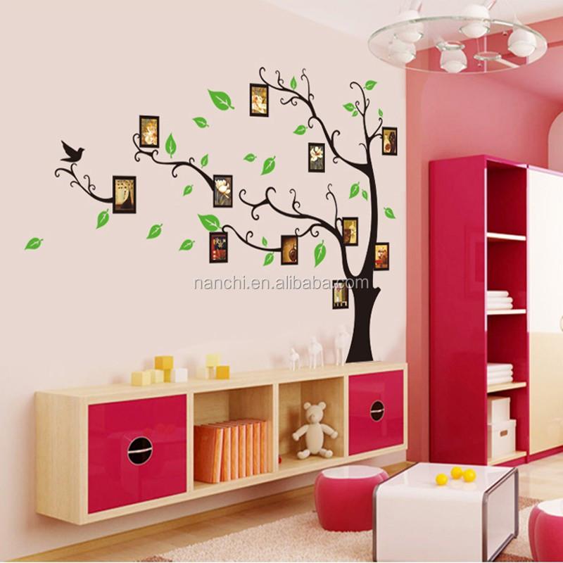 gro en baum foto vinyl wandaufkleber f r kinderzimmer. Black Bedroom Furniture Sets. Home Design Ideas