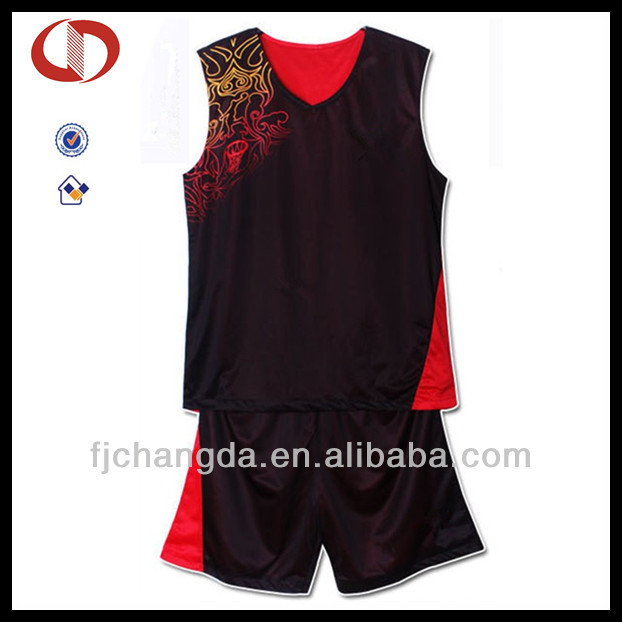 Custom blank reversible basketball jersey and shorts designs