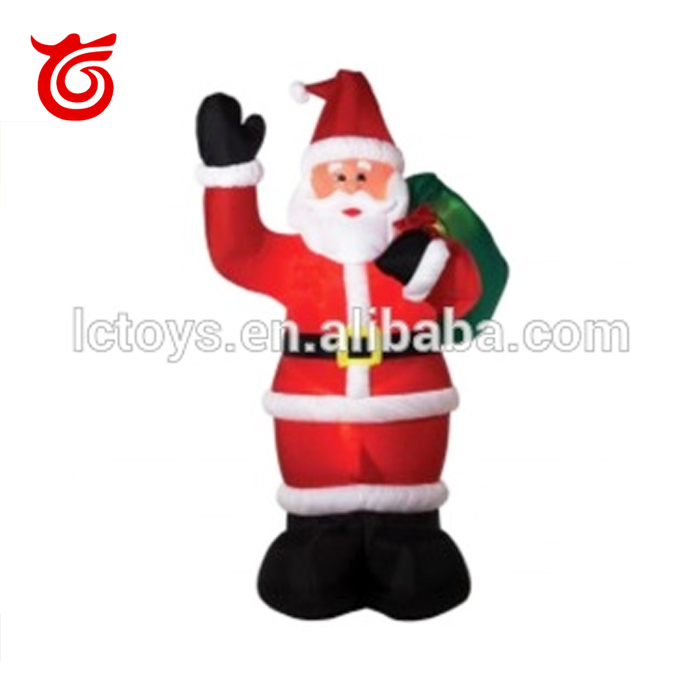 light up moving holiday inflatable floating santa claus