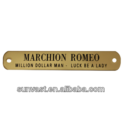 brass nameplate/free sample available