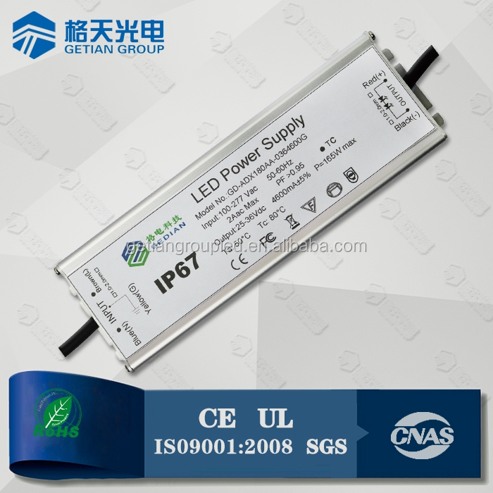 IP67 Outlay LED Drivers 25-36V/36-54V 150W Isolated LED Driver