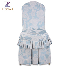New Arrival Hot Selling China Supplier Wholesale Luxuary Charming 100%Polyester Wedding Banquet Jacquard Ruffled Chair Cover
