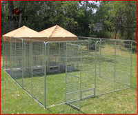 High Quality Easy Assembly Foldable Dog Run Fence Panels and Stainless Steel Dog Kennel for Sale