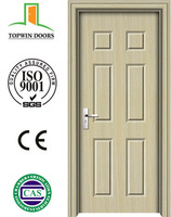 Cheap price PVC wooden door interior MDF door