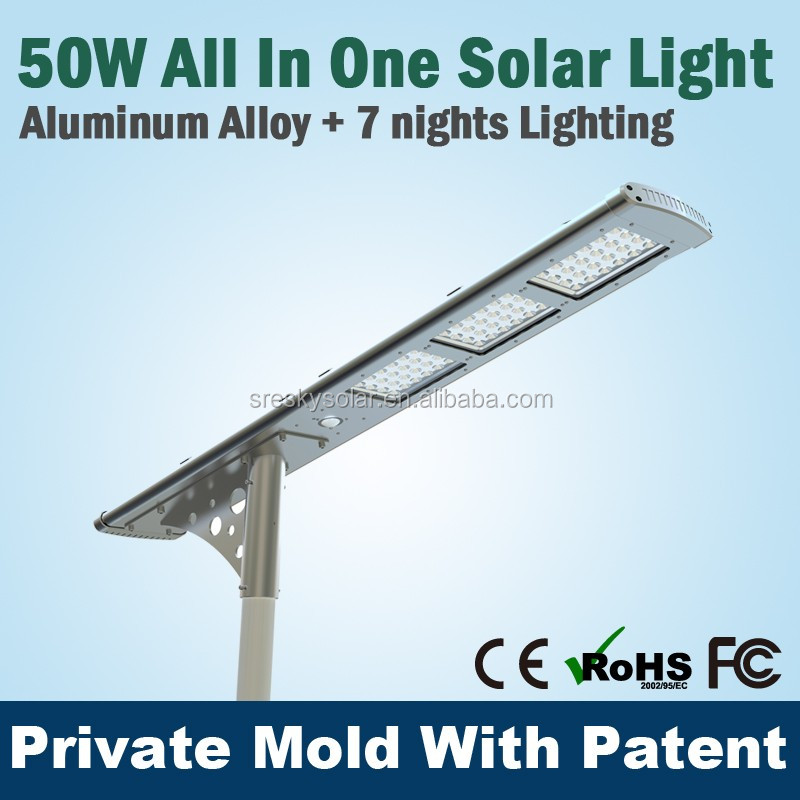 Waterproof Street Light,Outdoor Standing Pole Light Solar Led