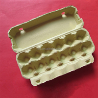 12 Counts Paper Moulded Pulp Egg Tray Original Color