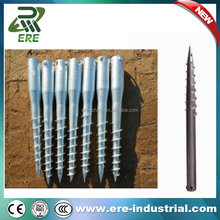 Ground screw piles foundations fence post metal anchor for fence and garden