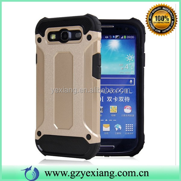 Heavy-duty anti-shock hybrid combo case for samsung galaxy s3 case tpu pc cover