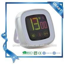 Promotion gift digital touch countdown timer with colourful display