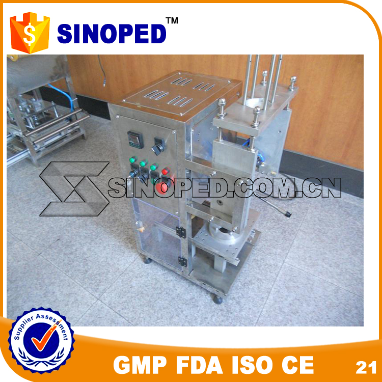 Easy operation semi automatic coffee capsule filling and sealing machine