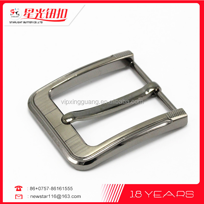 Fashion metal belt buckle with pin buckle for men belt and easy clip belt buckle