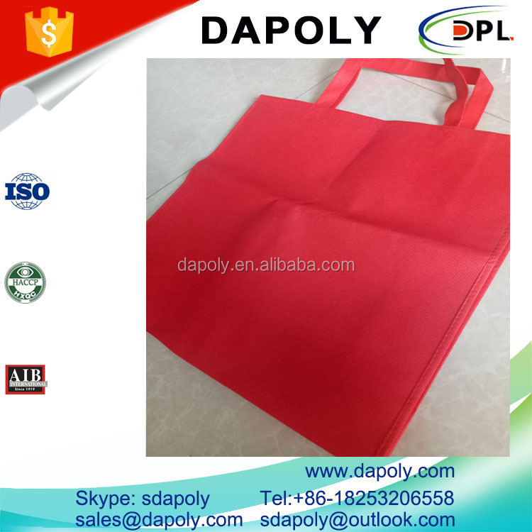 No Printing Red Non Woven Polypropylene Shopping Bag