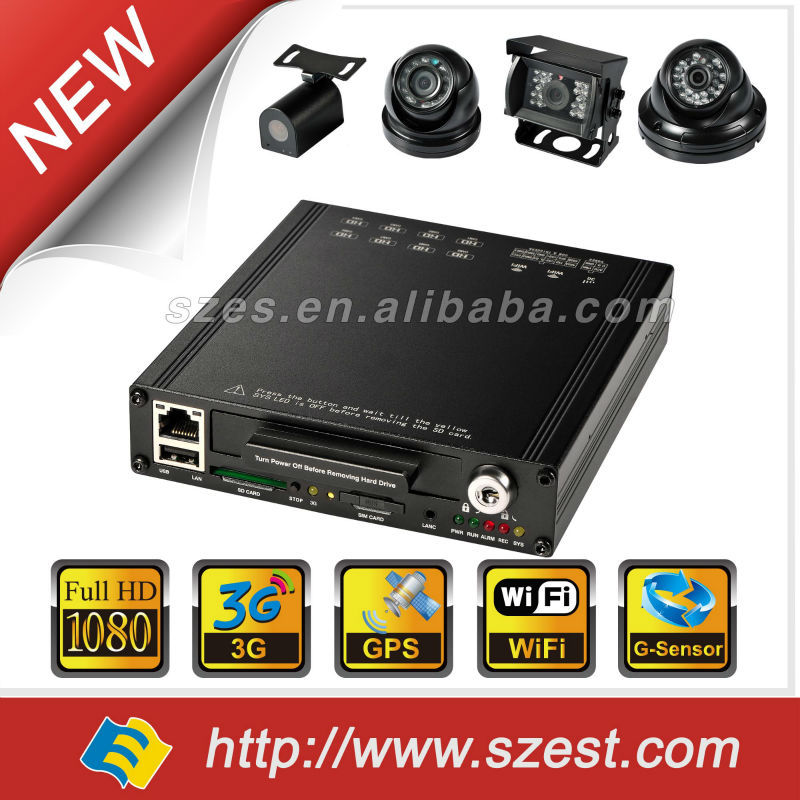 2016 CMS Software Tracking system 3G 4CH MDVR Vehicle Car Night Vision Camera in CCTV DVR Camera for Bus/Taxi/Truck/School Bus