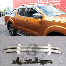 4x4 Roof Rail Bar Silver 2 Pc Fit Np300 Navara Body Kit Pickup 4 Door 2012 - 2017 Roof Rack