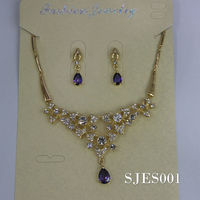 Necklace earring set 2013 Fashion jewelry settings and mountings